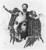 Bob Marley and Haile Selassie