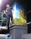 Gods & Monsters Mural ~ Installation
