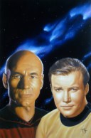 Captains John Luc Picard and James T. Kirk