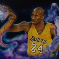 Salute to Black Mamba ~ Original oil framed 20x24 $2700, 11x14 prints $25